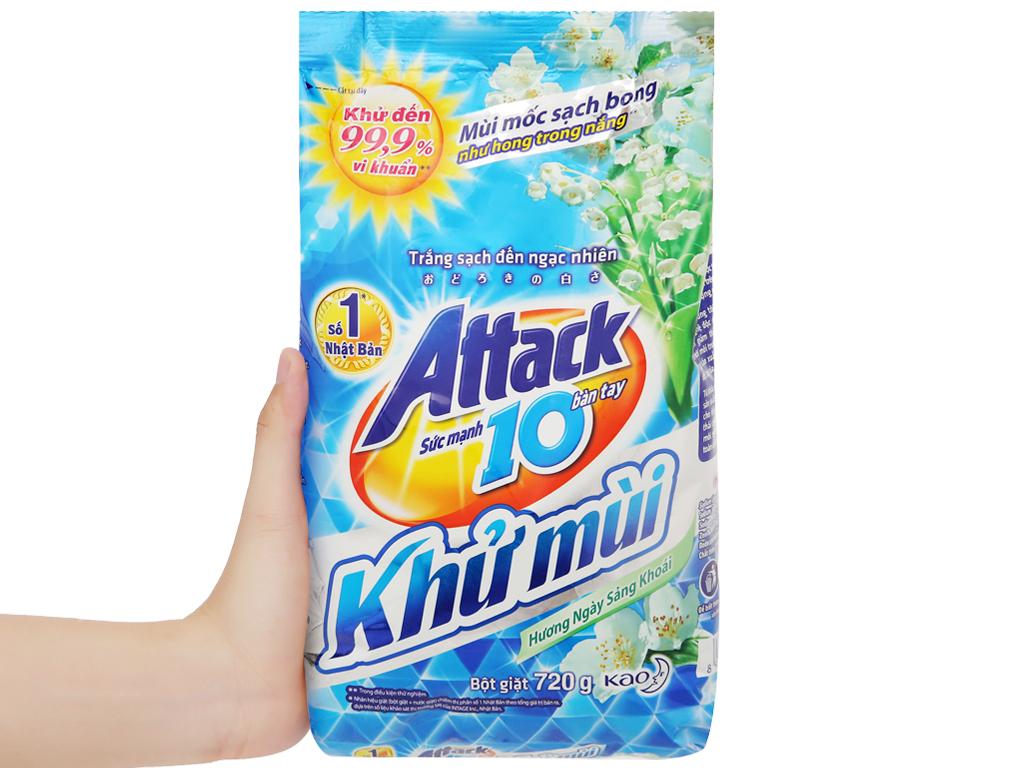 Bột giặt Attack khử mùi hương ngày sảng khoái 720g 5