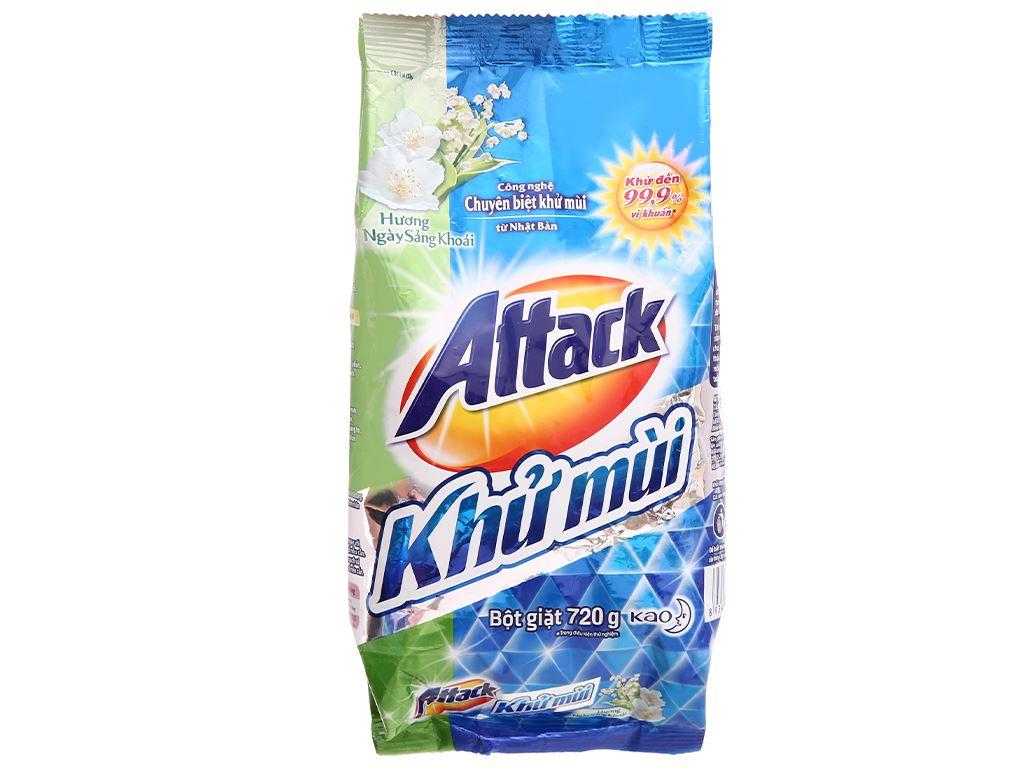 Bột giặt Attack khử mùi hương ngày sảng khoái 720g 1