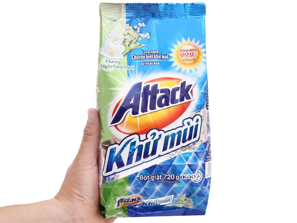 Bột giặt Attack khử mùi hương ngày sảng khoái 720g 6
