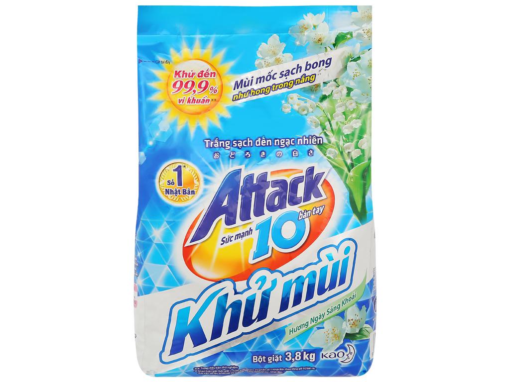Bột giặt Attack khử mùi hương ngày sảng khoái 3.8kg 1