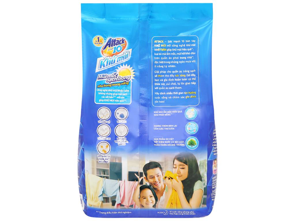 Bột giặt Attack khử mùi hương ngày sảng khoái 3.8kg 2