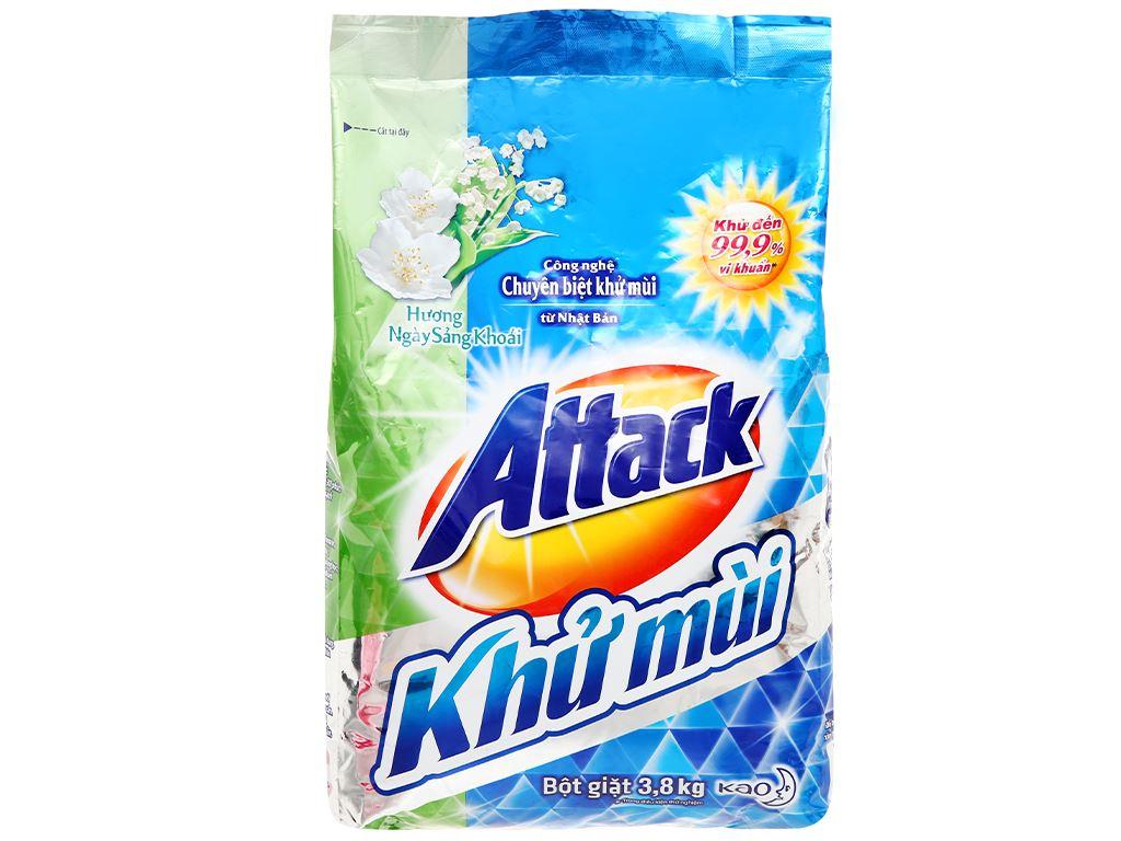 Bột giặt Attack khử mùi hương ngày sảng khoái 3.8kg 6