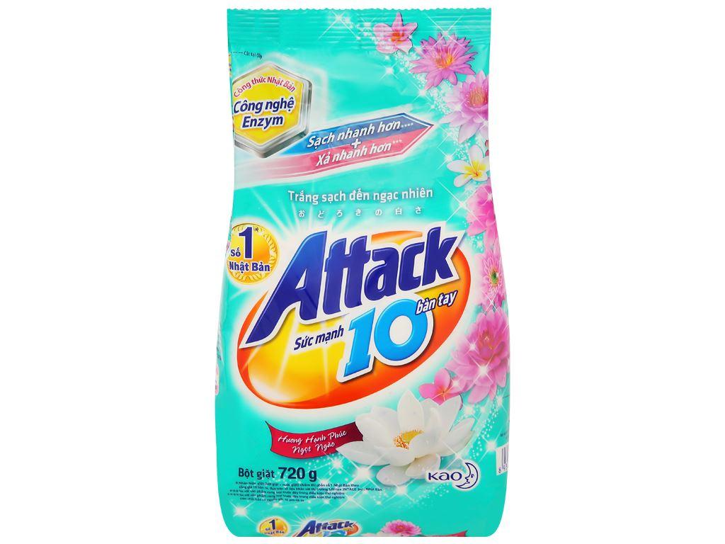 Bột giặt Attack hương hạnh phúc ngọt ngào 720g 1