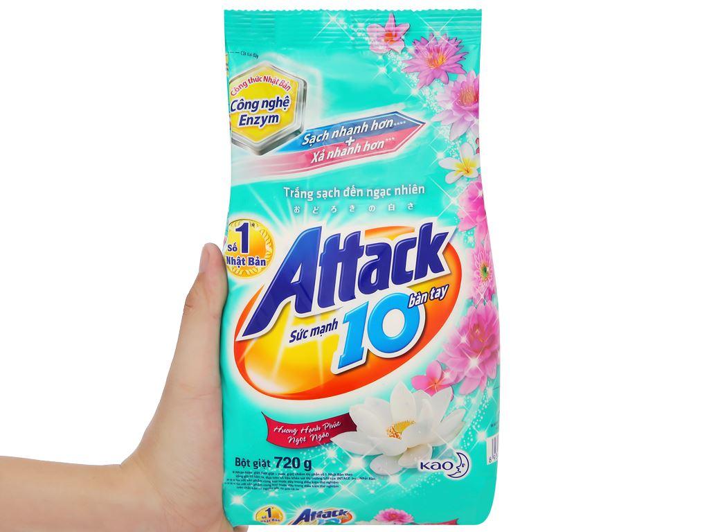 Bột giặt Attack hương hạnh phúc ngọt ngào 720g 5
