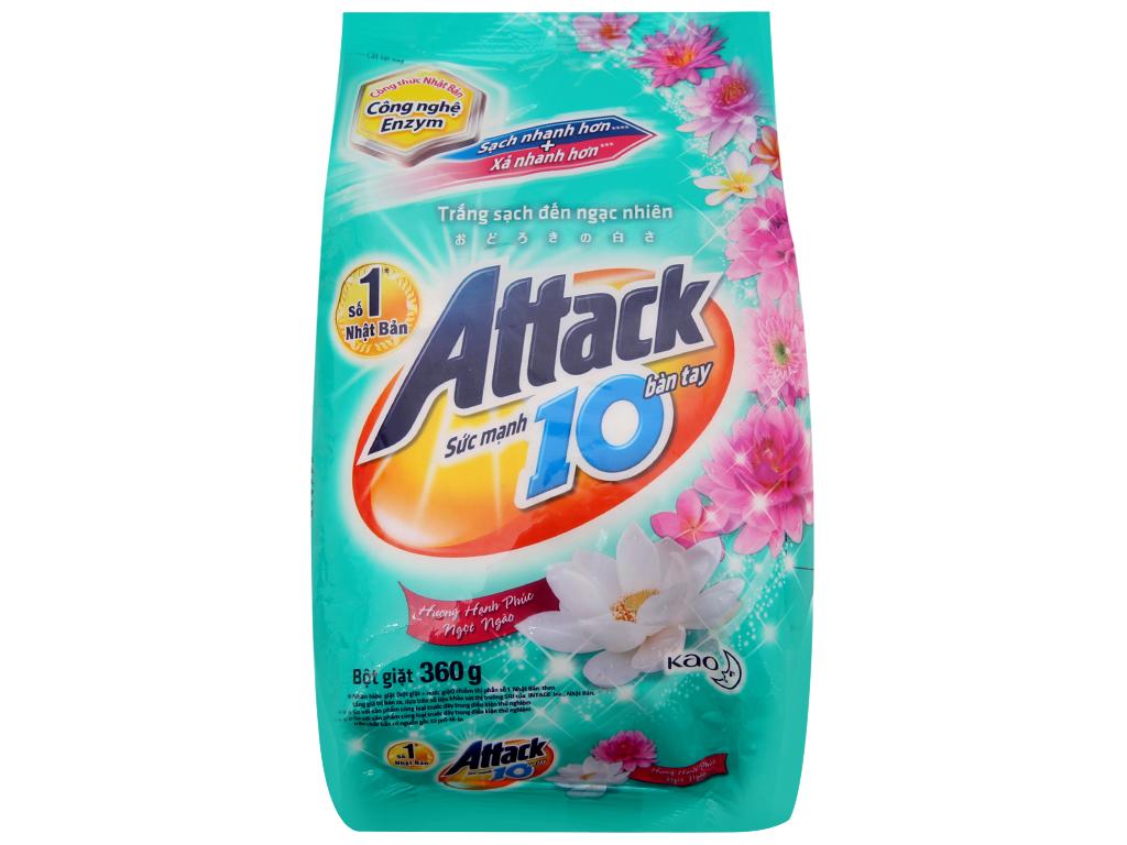 Bột giặt Attack Hạnh phúc ngọt ngào 360g 2