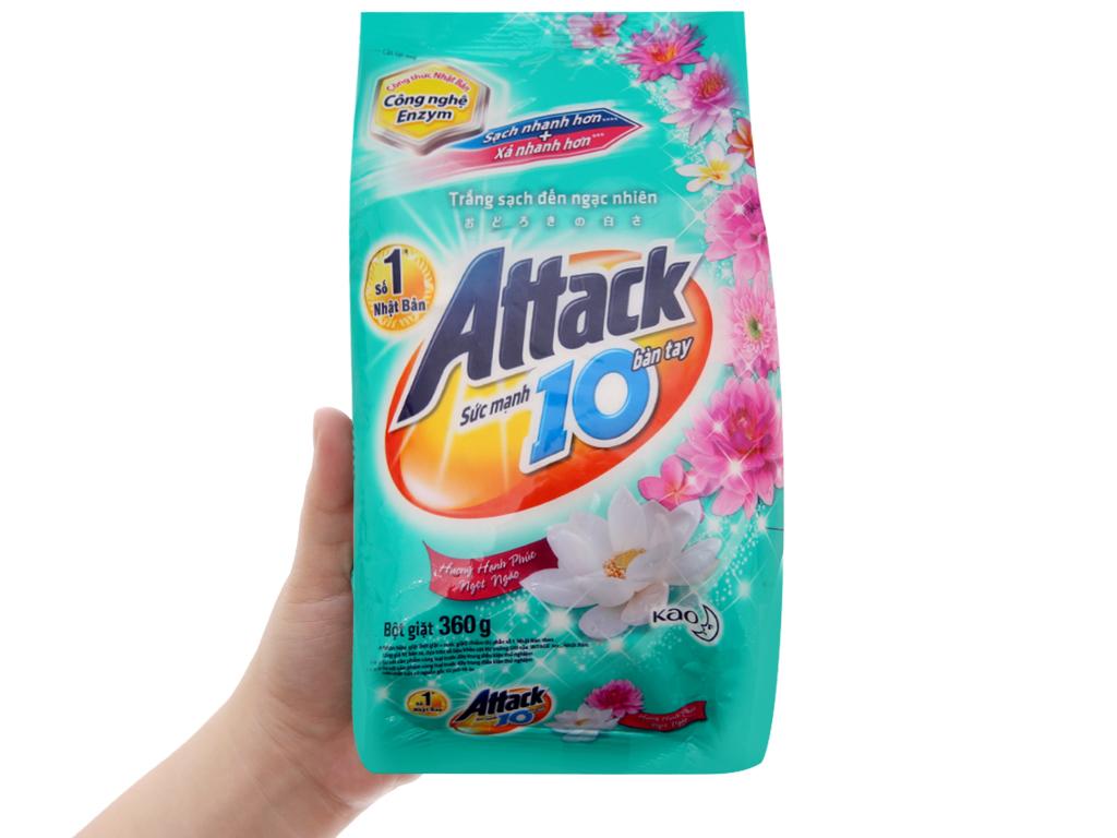 Bột giặt Attack Hạnh phúc ngọt ngào 360g 5