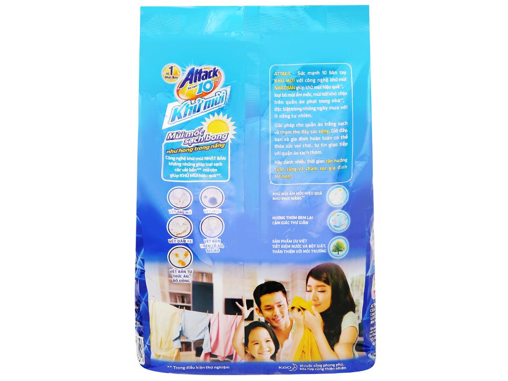 Bột giặt Attack khử mùi hương oải hương 3.8kg 2