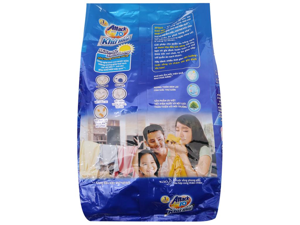 Bột giặt Attack Khử mùi hương Oải hương 3.8kg 4