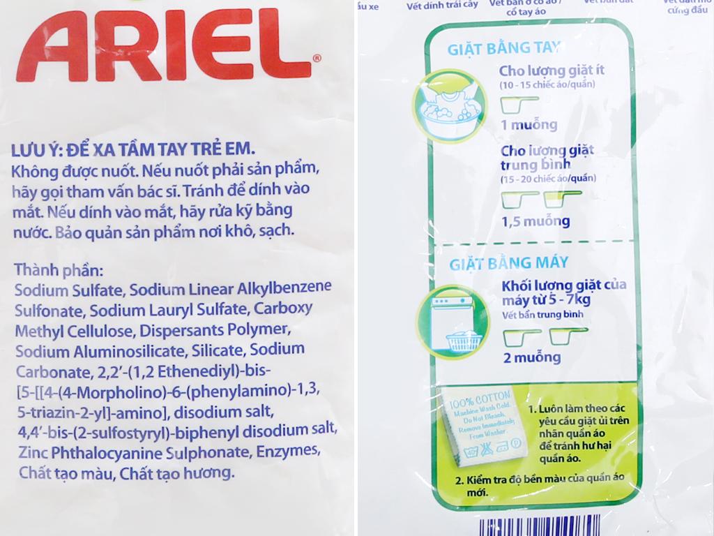 Bột giặt Ariel hương nắng mai 4.1kg 4