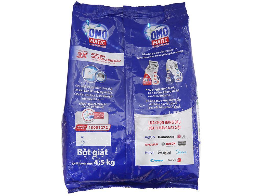 Bột giặt OMO Matic 3x xoáy bay vết bẩn 4.5kg 3