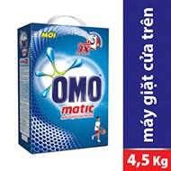 Bột giặt Omo Matic Sức mạnh 3X 4.5kg (máy giặt cửa trước)