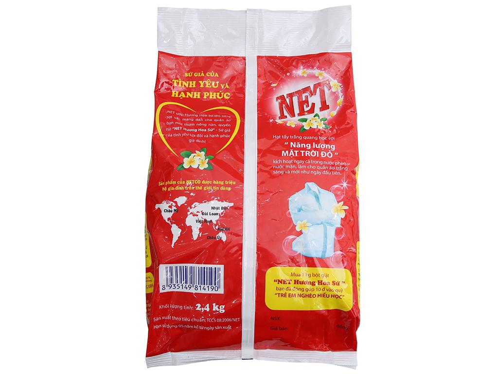 Bột giặt NET hương Hoa sứ 2.4kg 3