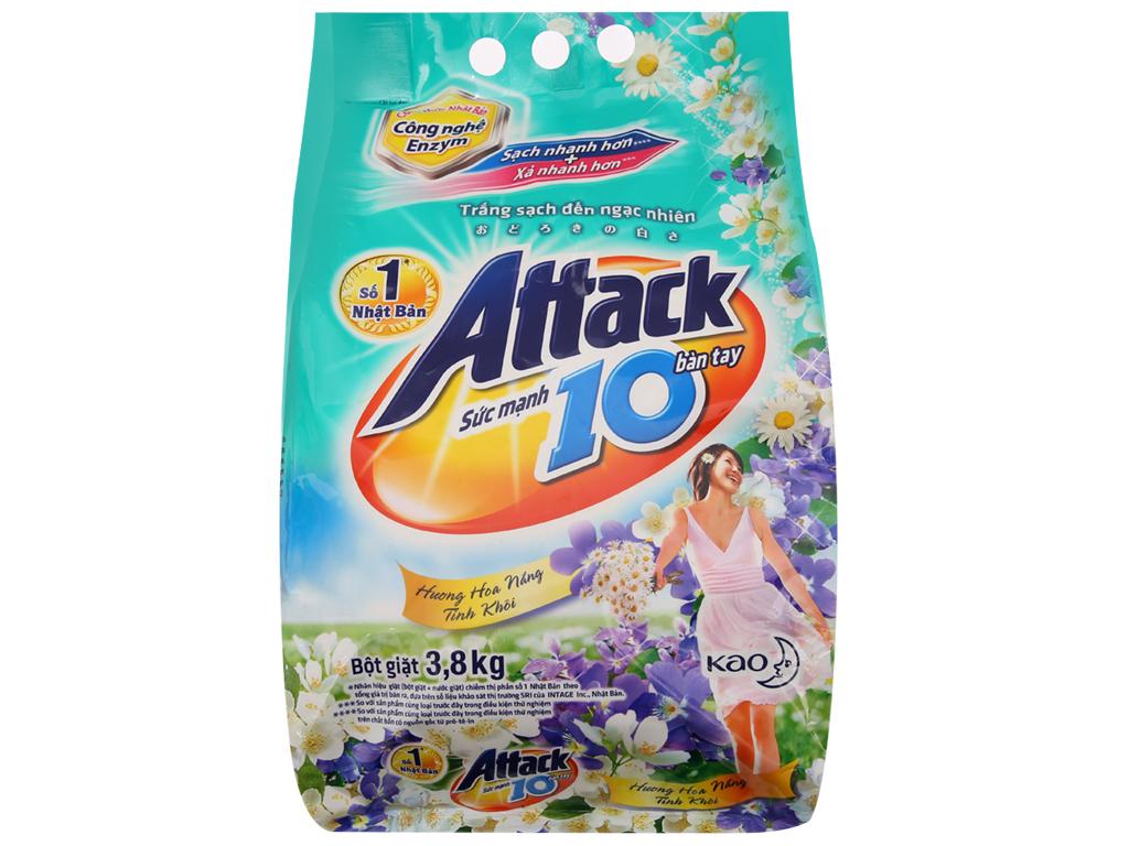 Bột giặt Attack hoa nắng tinh khôi 3.8kg 2