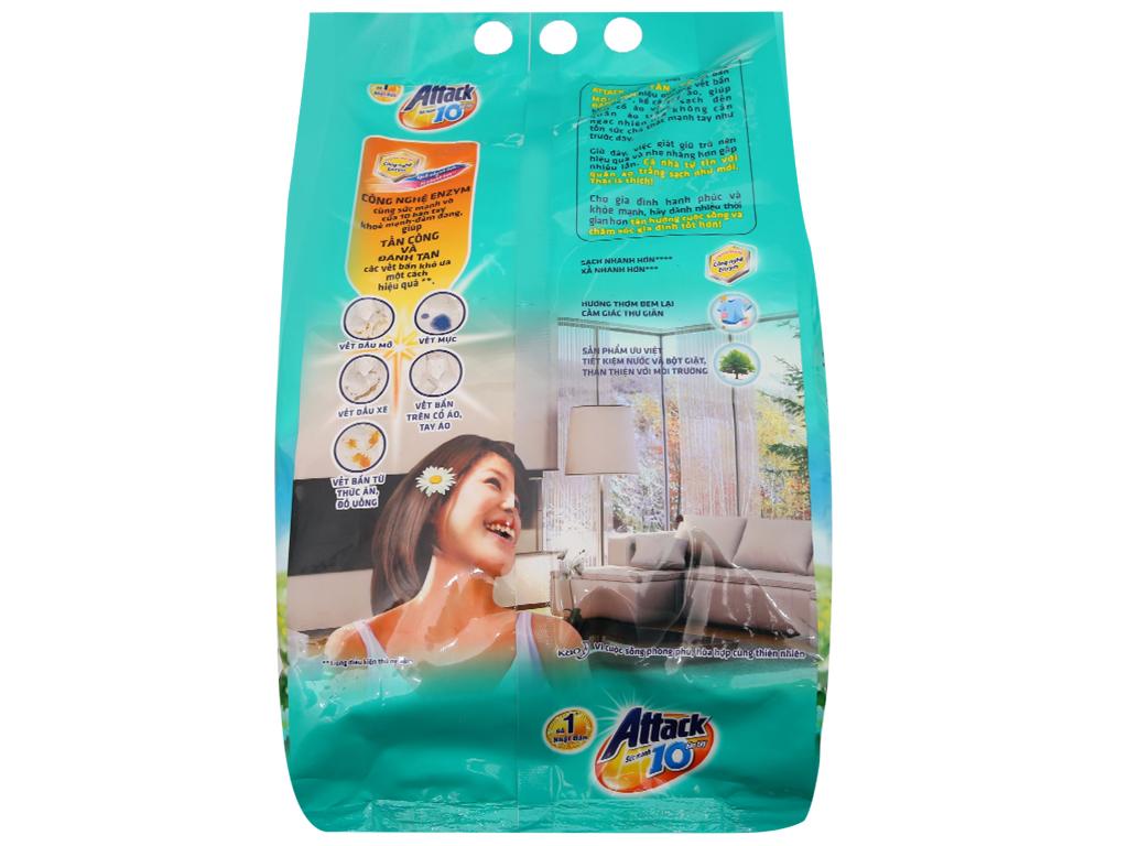 Bột giặt Attack hoa nắng tinh khôi 3.8kg 3