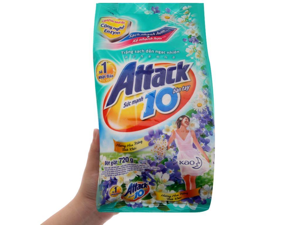 Bột giặt Attack hoa nắng tinh khôi 720g 4