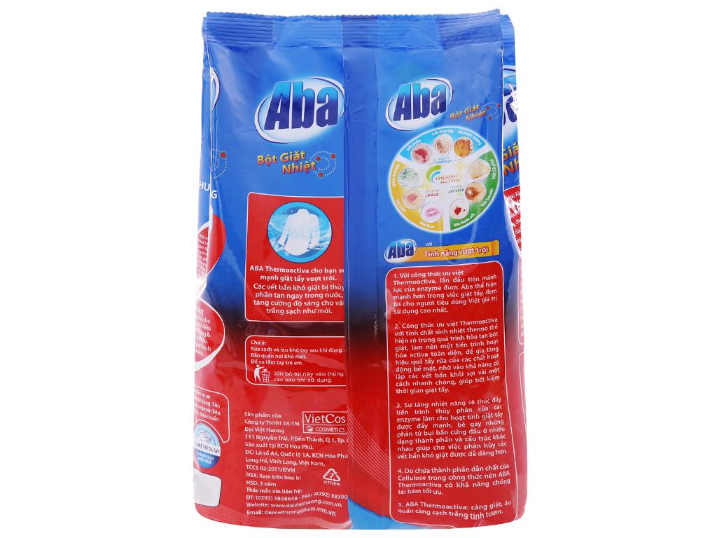 Bột giặt nhiệt Aba sạch tinh tươm 400g 2