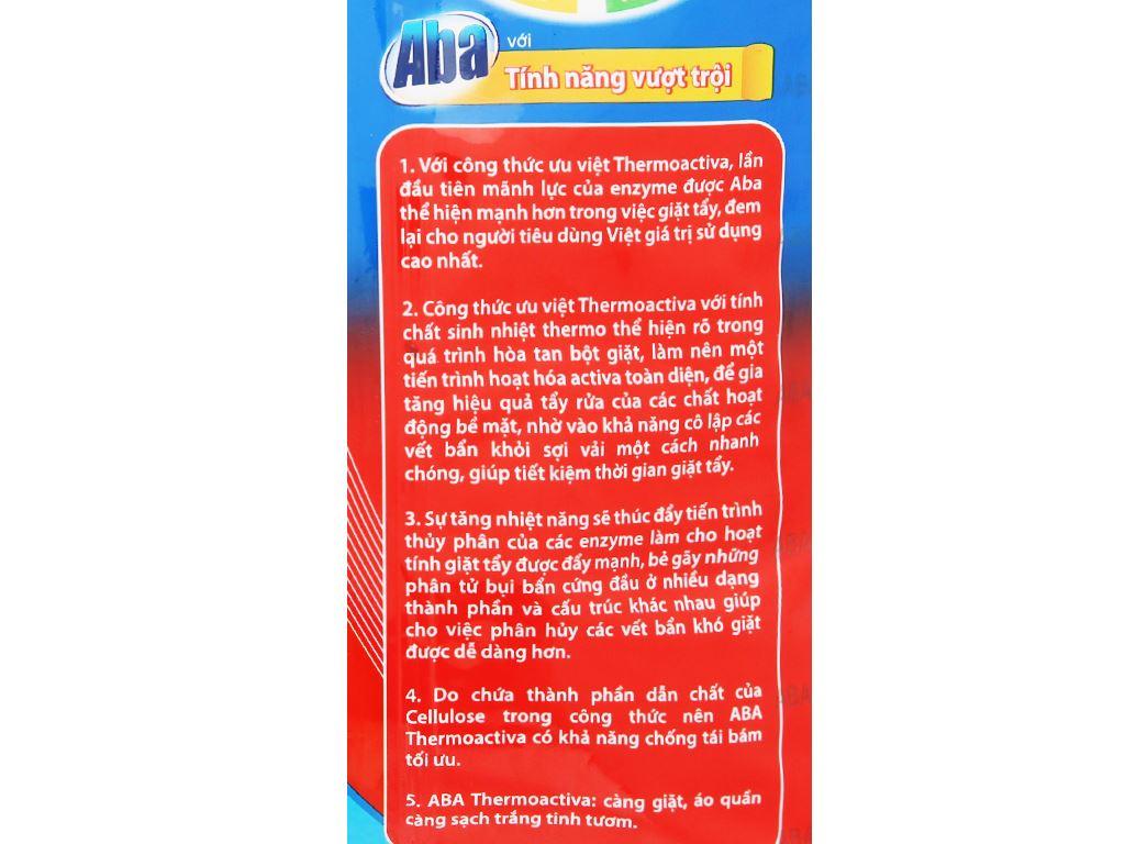 Bột giặt nhiệt Aba sạch tinh tươm 400g 5