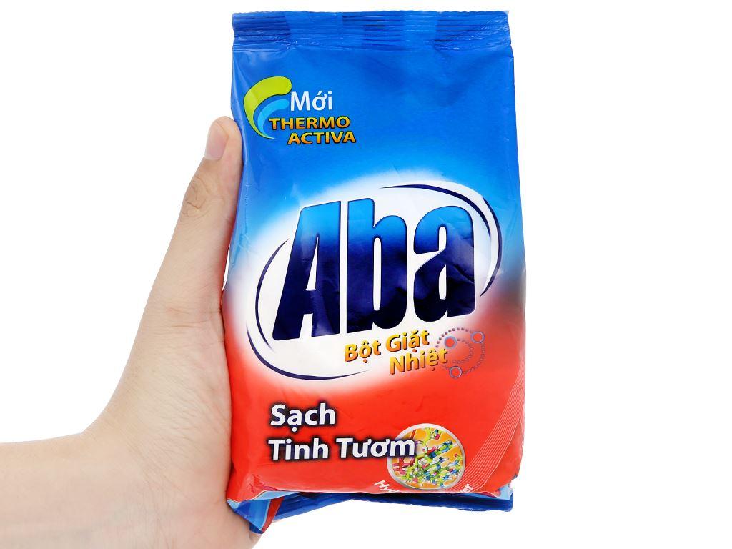 Bột giặt nhiệt Aba sạch tinh tươm 400g 8