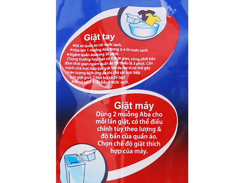 Bột giặt nhiệt Aba sạch tinh tươm 3kg 3