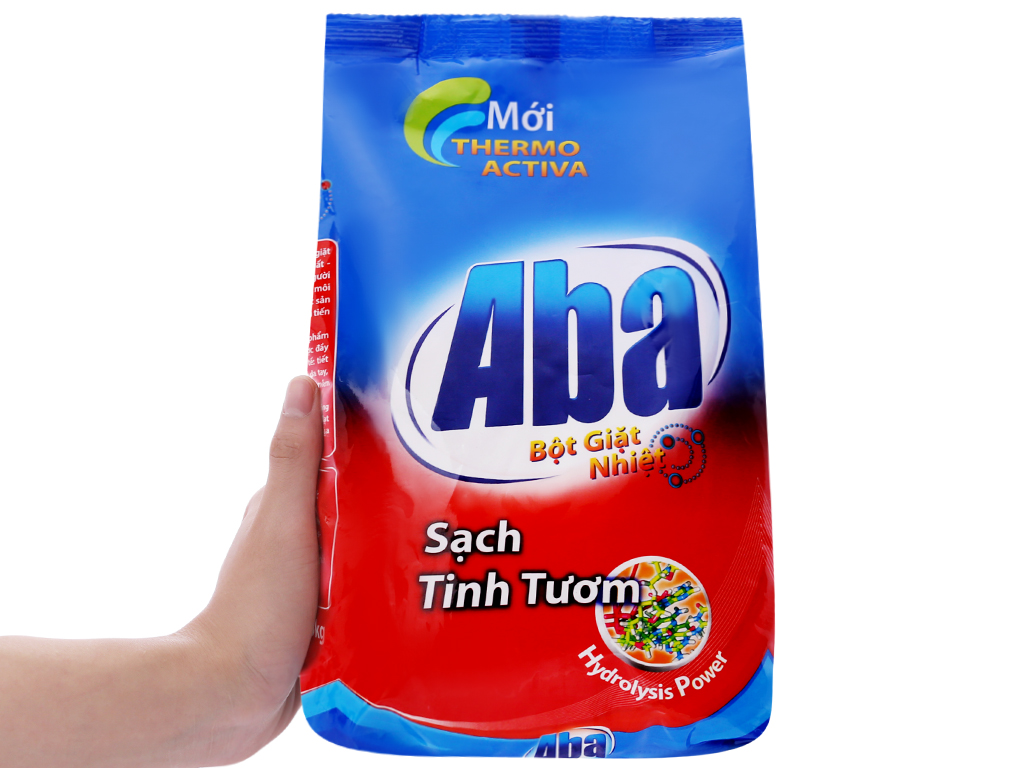 Bột giặt nhiệt Aba sạch tinh tươm 1.5kg 5