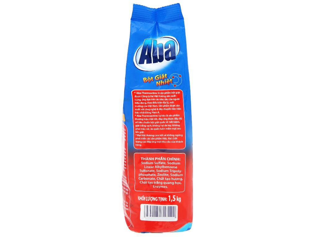 Bột giặt nhiệt Aba sạch tinh tươm 1.5kg 3