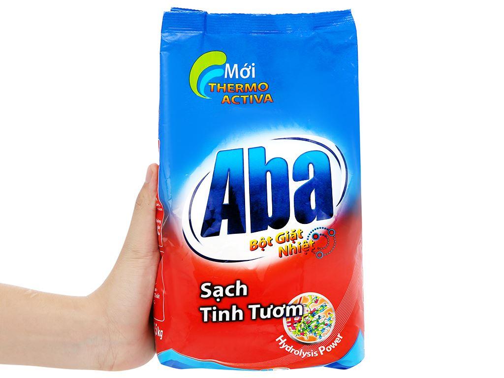 Bột giặt nhiệt Aba sạch tinh tươm 1.5kg 8