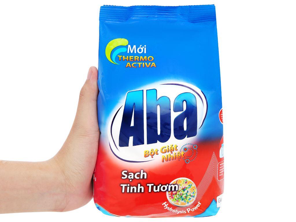 Bột giặt nhiệt Aba sạch tinh tươm 800g 8