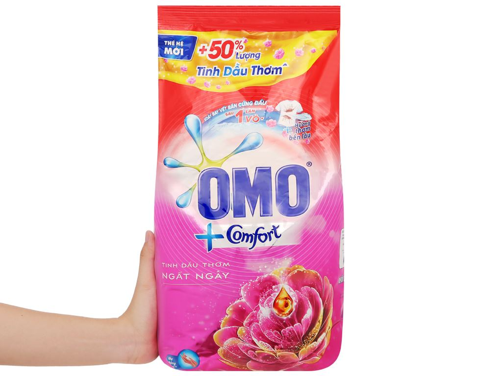 Bột giặt OMO Comfort tinh dầu thơm ngất ngây 5.5kg 5