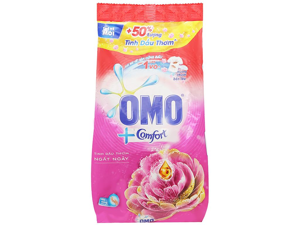 Bột giặt OMO Comfort tinh dầu thơm ngất ngây 2.7kg 1