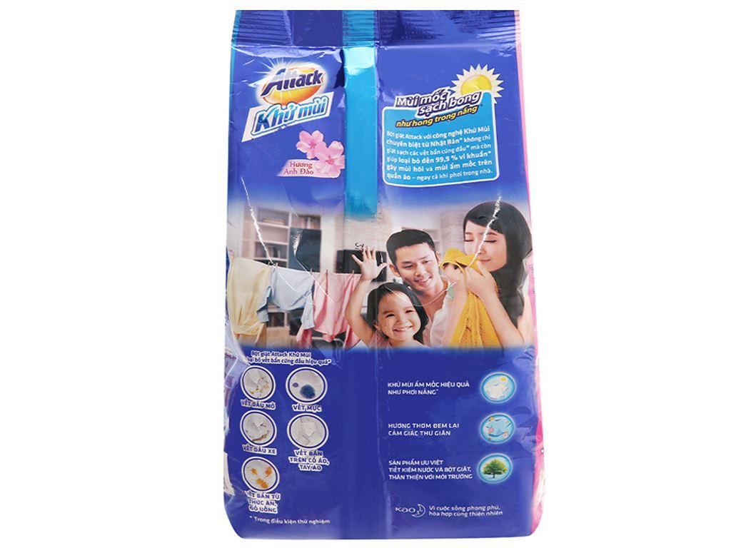 Bột giặt Attack khử mùi hương anh đào 3.8kg 2