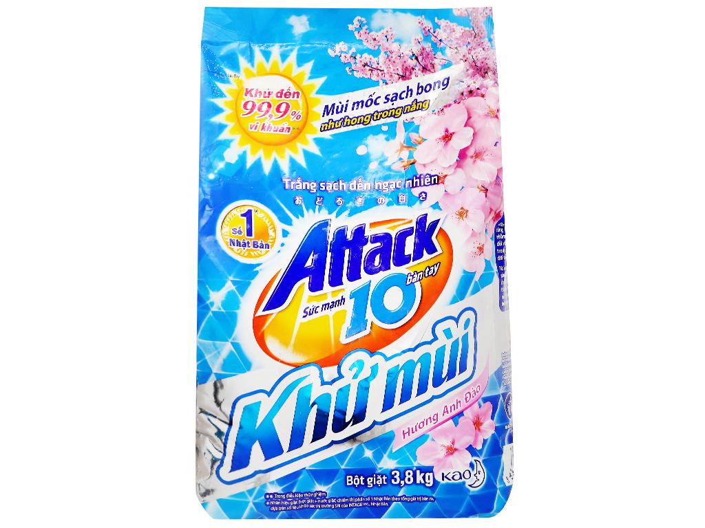 Bột giặt Attack khử mùi hương hoa anh đào 3.8kg 1