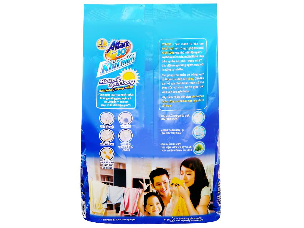 Bột giặt Attack khử mùi hương hoa anh đào 3.8kg 2