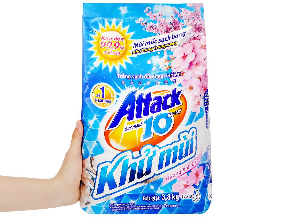 Bột giặt Attack khử mùi hương hoa anh đào 3.8kg 5