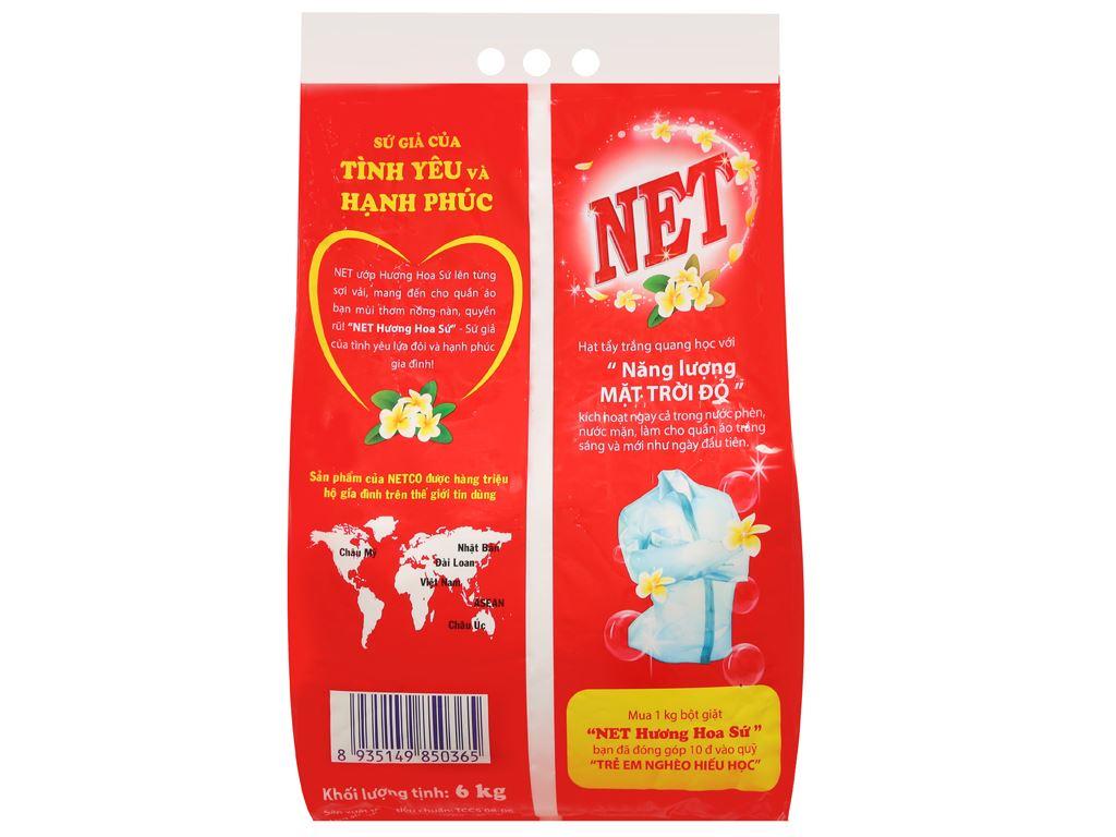 Bột giặt NET hương hoa sứ 6kg 2