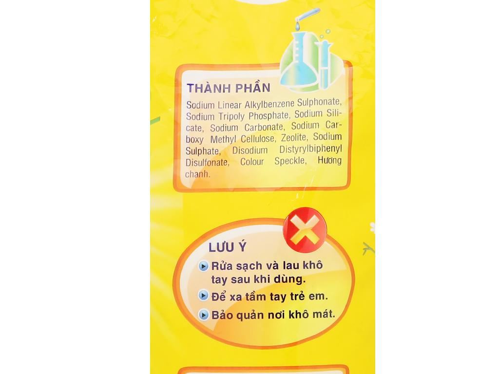 Bột giặt Lix Extra hương chanh 6kg 4