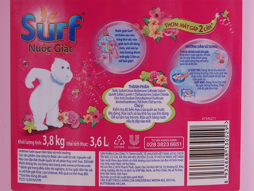 Nước giặt Surf hương cỏ hoa diệu kỳ can 3.6 lít 4