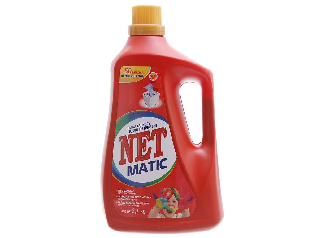 Nước giặt NET Matic đỏ chai 2.7kg 2