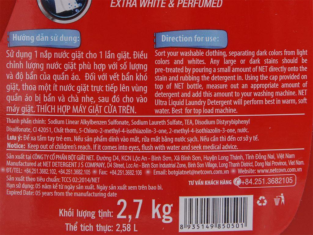 Nước giặt NET Matic ultra & extra chai 2.58 lít 4