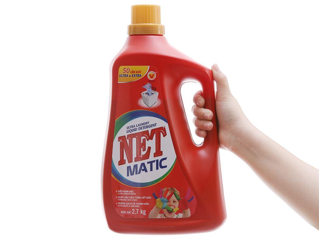 Nước giặt NET Matic đỏ chai 2.7kg 5