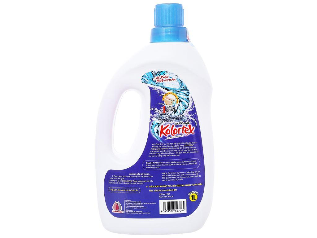 Nước giặt Kolortex trắng sáng tuyệt vời 1 lít 2