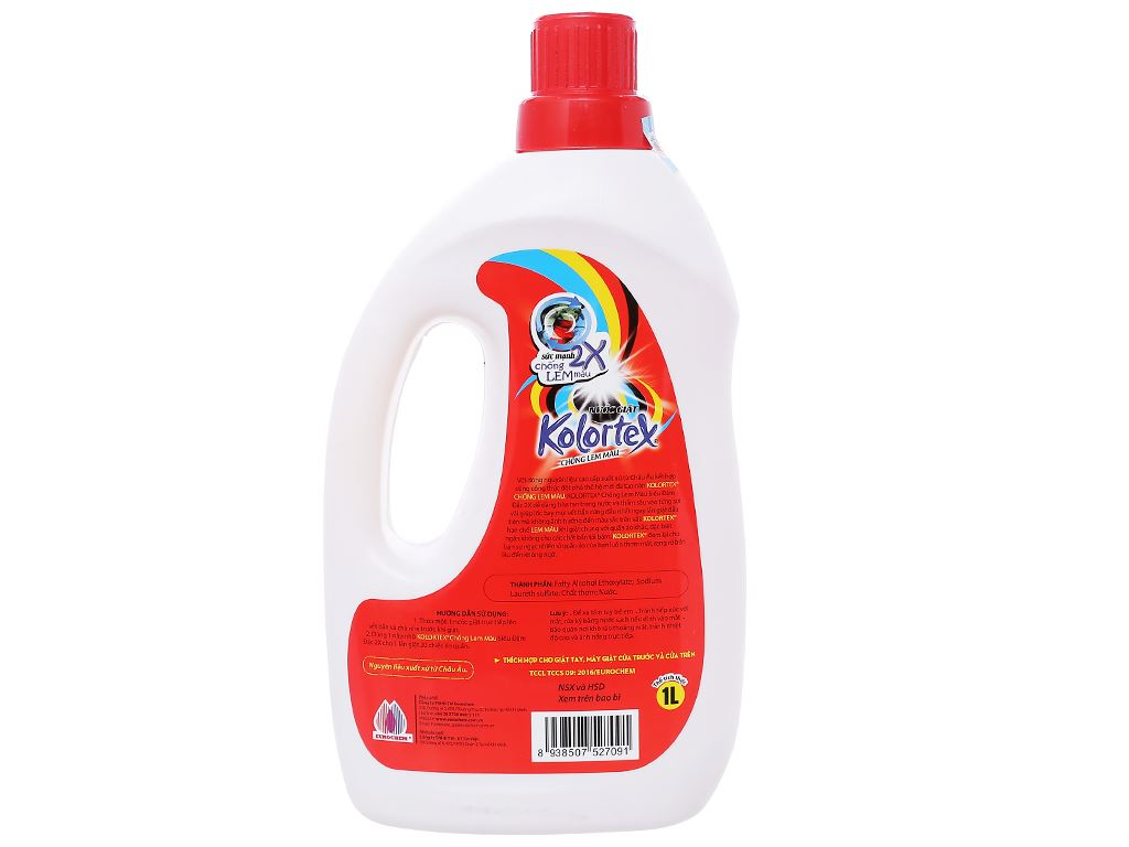 Nước giặt Kolortex chống lem màu 1 lít 2