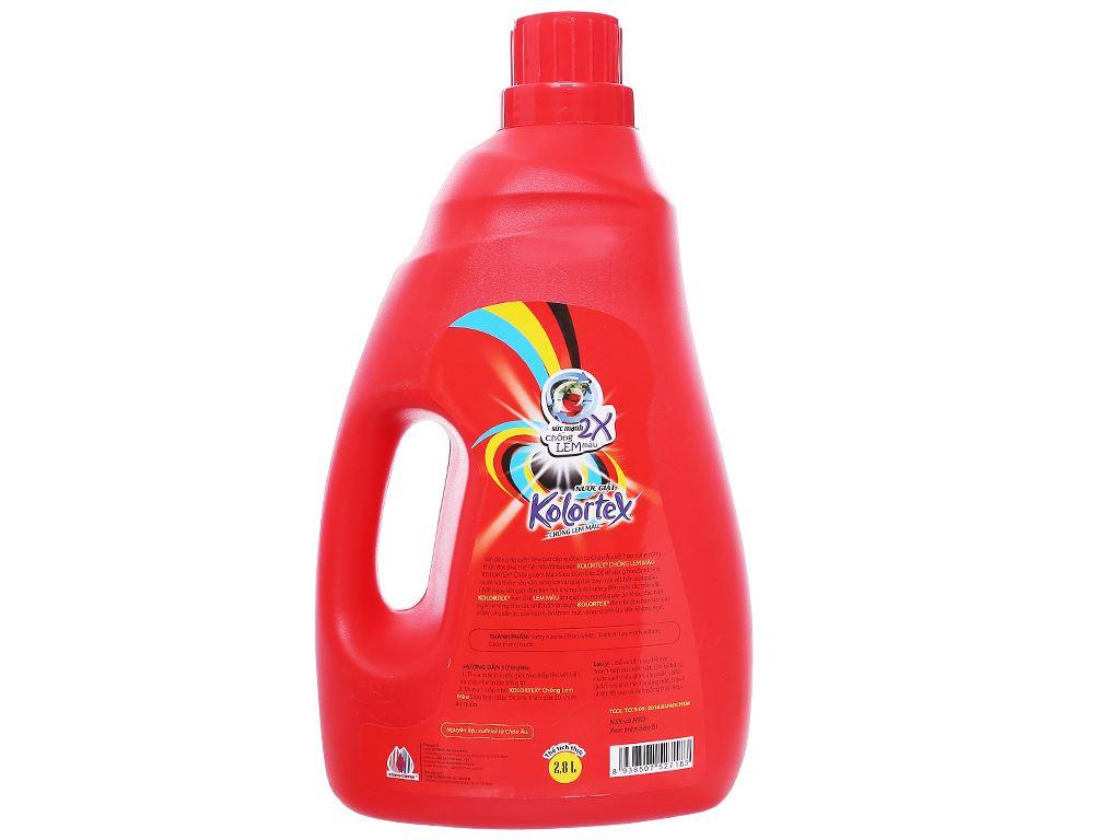 Nước giặt Kolortex chống lem màu chai 2.8 lít 2