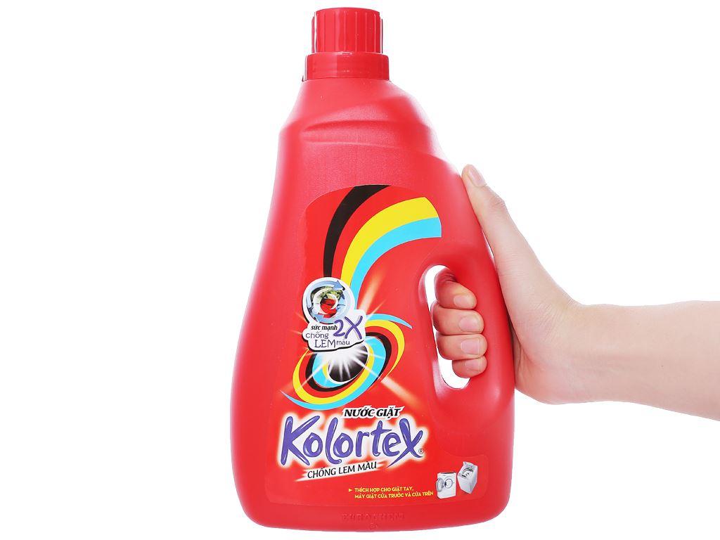 Nước giặt Kolortex chống lem màu chai 2.8 lít 3