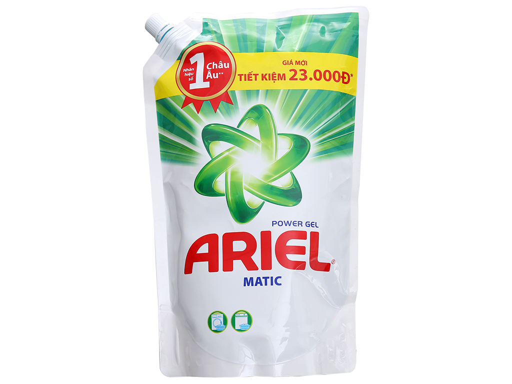 Nước giặt Ariel Matic túi 1.4kg 2
