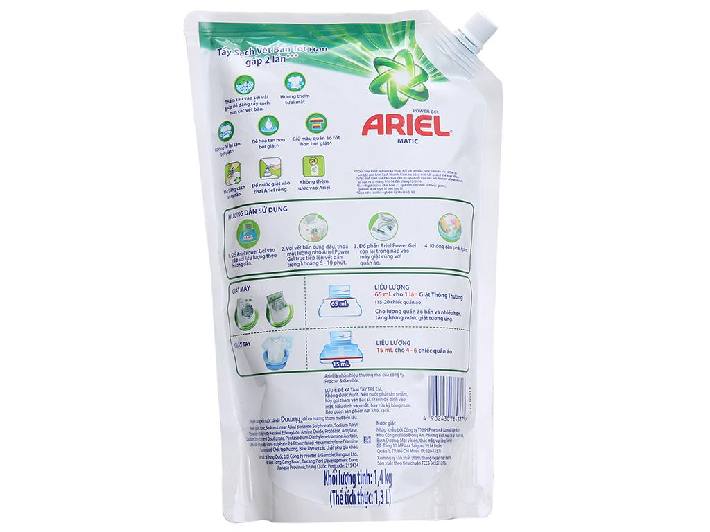 Nước giặt Ariel Matic túi 1.4kg 3