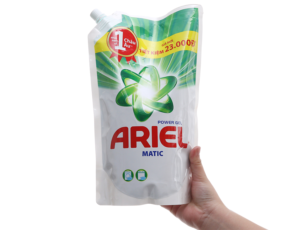 Nước giặt Ariel Matic túi 1.4kg 4