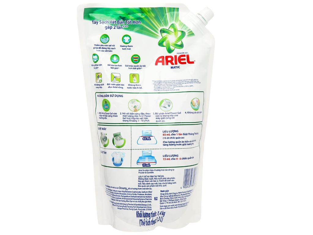 Nước giặt Ariel Matic túi 1.3 lít 2
