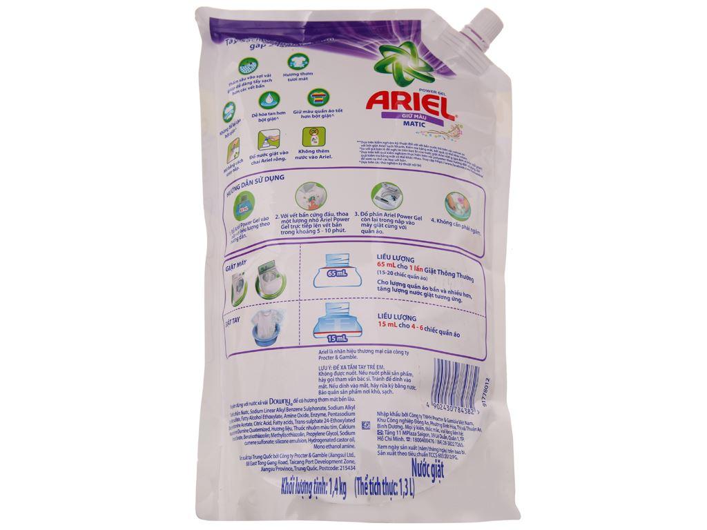 Nước giặt Ariel giữ màu túi 1.4kg 3