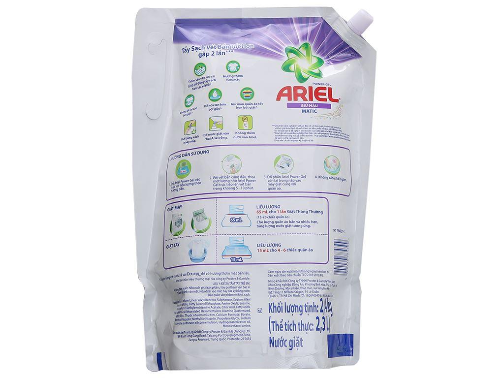 Nước giặt Ariel giữ màu túi 2.4kg 3