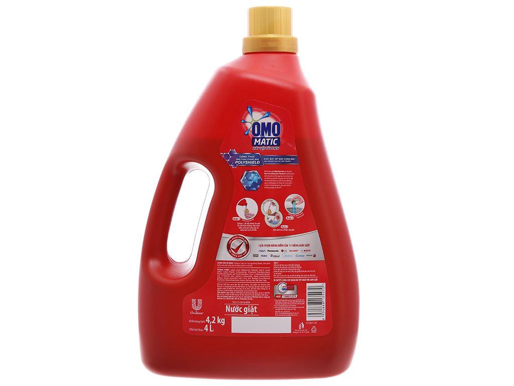 Nước giặt OMO Matic Polyshield kháng bẩn chai 4 lít 99